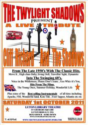 perry dennis & the twylight shadows are at the luton libruary threatre
